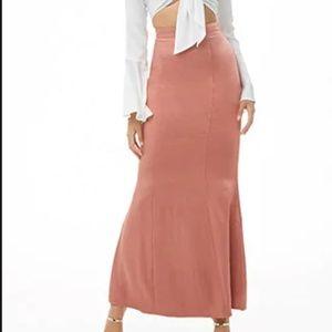 Satin, mermaid maxi skirt